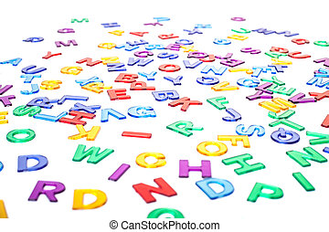 Colorful letters background texture