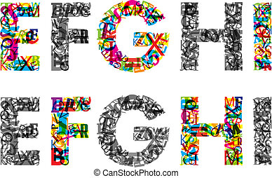 Colorful letters of alphabet. EPS10