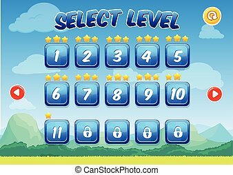 Colorful Level Selection Screen