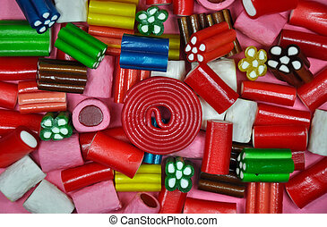 Colorful licorice candy