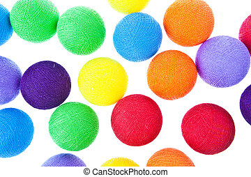 Colorful light ball isolated on white background