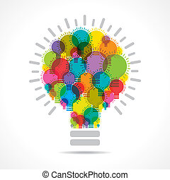 colorful light bulbs form big bulb - colorful light bulbs ...