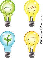 Colorful light bulbs set