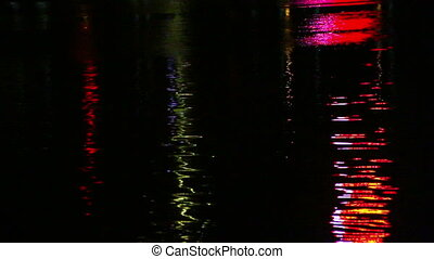 Colorful light reflection