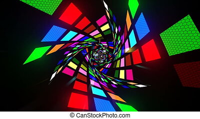 Colorful Light Tunnel - Seamless loop 3D animation for VJ...