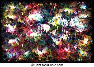 Colorful lights background abstract - vector