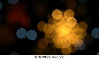 Colorful lights bokeh - Colorful light bokeh in defocus
