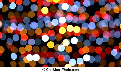 Colorful lights bokeh - Colorful light bokeh in defocus