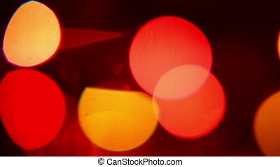 colorful lights on a holiday, out of focus 3