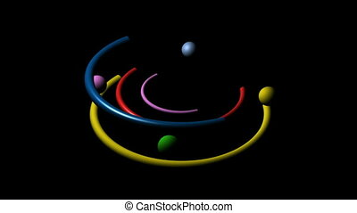 Colorful Line Circles adn Balls