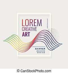 colorful lines abstract banner design