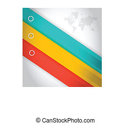 colorful lines for customization info graphics. illustration design