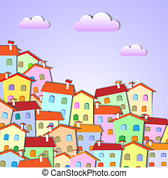 Colorful Little town