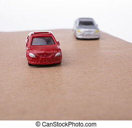 Colorful little toy cars