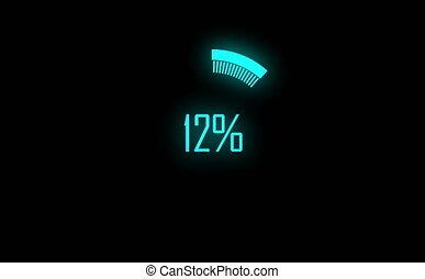 Colorful loading circle. Progress loading bar UI indicator....
