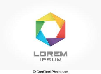 Colorful logo design element