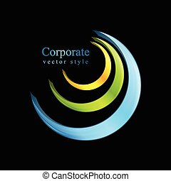 Colorful logo element vector design