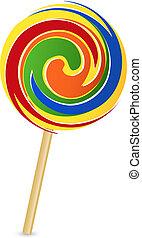 colorful lollipop - Vector illustration of colorful lollipop