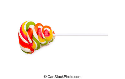 Colorful lollipop isolated on the white background