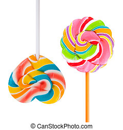 colorful lollipop wrapper isolated on white background