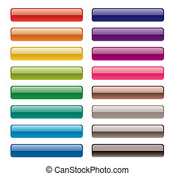 colorful long buttons - vector colorful long buttons