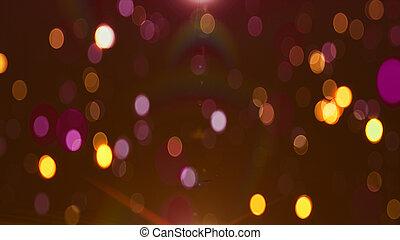 Colorful loop glitter glamour background Bokeh 4K