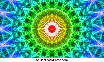 Colorful looping kaleidoscope seque
