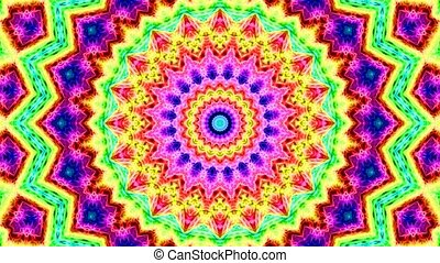 Colorful looping kaleidoscope