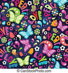 Colorful love butterflies