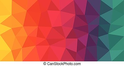Colorful Low Poly Vector Background - Colorful low poly...