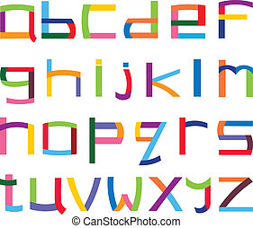 Colorful lower case alphabet