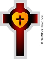 Colorful Lutherian Cross vector illustration on a white background