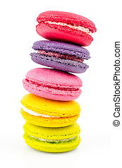 Colorful macaroon - Color ful macaroon on white background