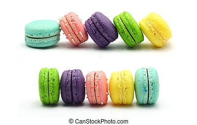colorful macaroons sort by domino effect