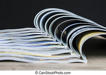 Colorful magazines composition