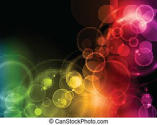Colorful magic lights
