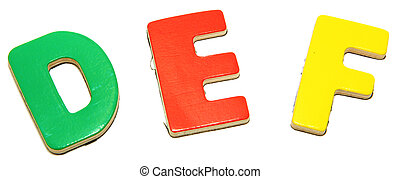 Colorful Magnetic Letters D E F