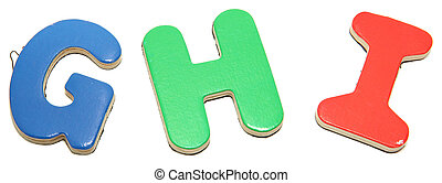 Colorful Magnetic Letters G H I
