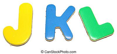 Colorful Magnetic Letters J K L
