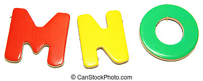 Colorful Magnetic Letters M N O