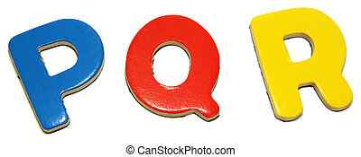 Colorful Magnetic Letters P Q R