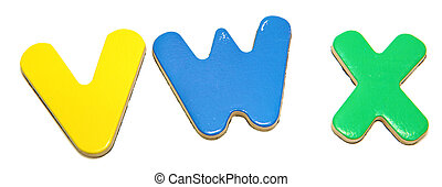 Colorful Magnetic Letters   V W X
