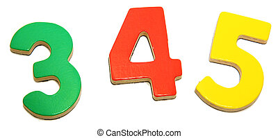 Colorful Magnetic Numbers 3 4 5 - Colorful magnetic alphabet...