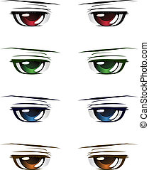 Colorful male eyes