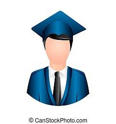 colorful man graduation icon