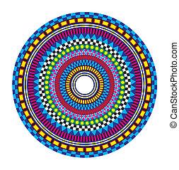 Colorful Mandala - Circular pattern on white background