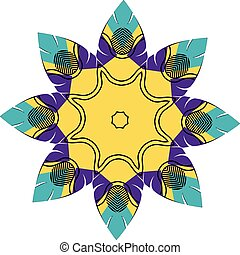 Colorful mandala design - Decorative stylized colorful round...