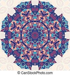 Colorful mandala. Ethnic ornament. Template for menu, greeting card, invitation or cover.