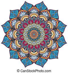 Colorful Mandala Flower 4
