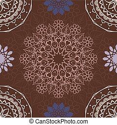 Colorful mandala seamless pattern background
